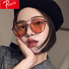 Psacss NEW Round Sunglasses For Women Retro Brand Designer High Quality Womens Vintage Sun Glasses Metal Frame oculos UV400