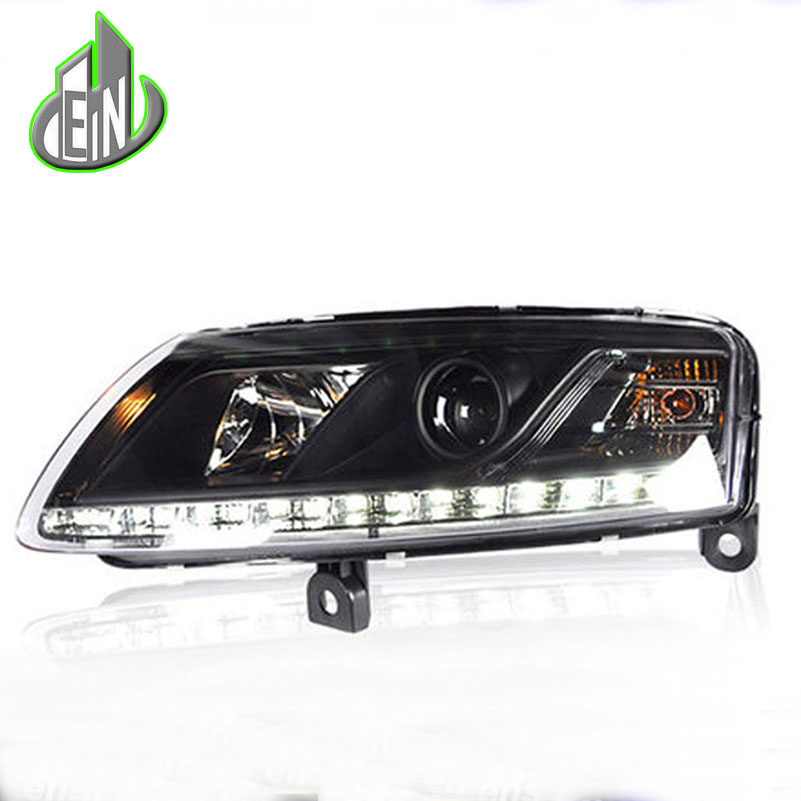 EN Styling For A6 C5 Headlights 2005-2008 A6 LED Headlight DRL Lens Double Beam H7 HID Xenon Car Accessories hireno car styling headlamp for 2004 2008 peugeot 206 headlight assembly led drl angel lens double beam hid xenon 2pcs