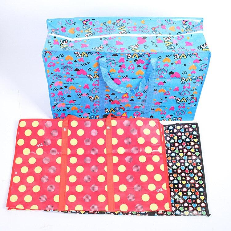 Duffel-Bags Travel-Handbag Large Thick Plastic PP Durable
