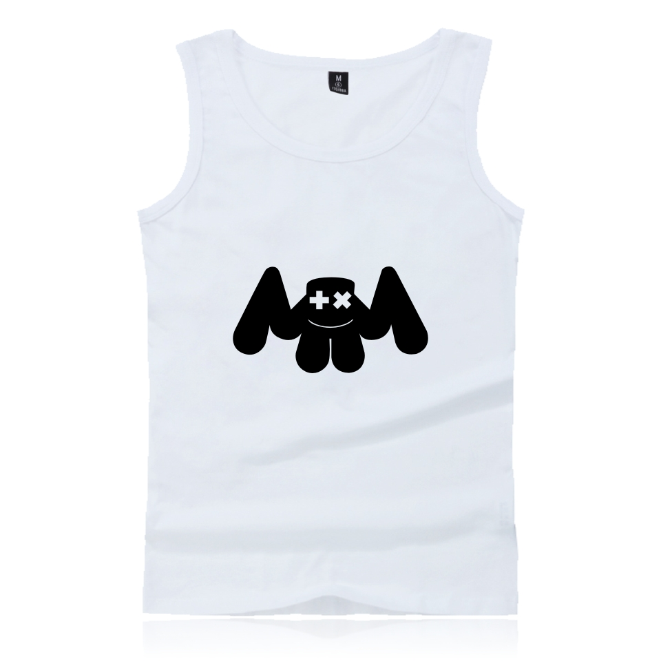 BTS Marshmello printing Summer Tank Top Men and women Bodybuilding Fashion trend funny Sleevesless Shirt Vest XXS-4XL clothes