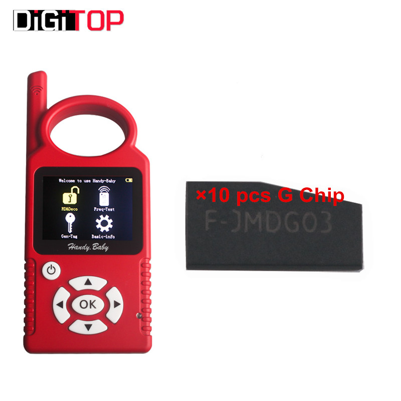 V6.1.0 Handy Baby CBAY Hand-held Car Key Copy Auto Key Programmer for 4D/46/48 Chips CBAY Chip Programmer Plus For Ford 83G Chip