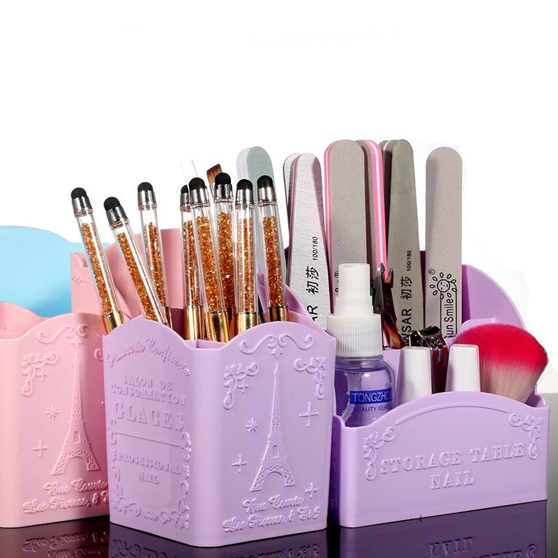 Nail Art Desktop Storage Etui PVC Box Manicure Art Saxar Polska - Nagel konst