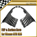 Car-styling For Nissan GTR R35 EPA Full Carbon Fiber Front Fender With Canard And Louver Fin(Inc 6 fins,side maker use F51 Fuga)