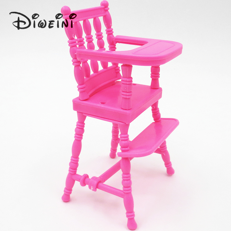 DollHouse Toys For Barbie Doll Dinner Table Cupboard Sink Kitchenware Set Doll Accessories