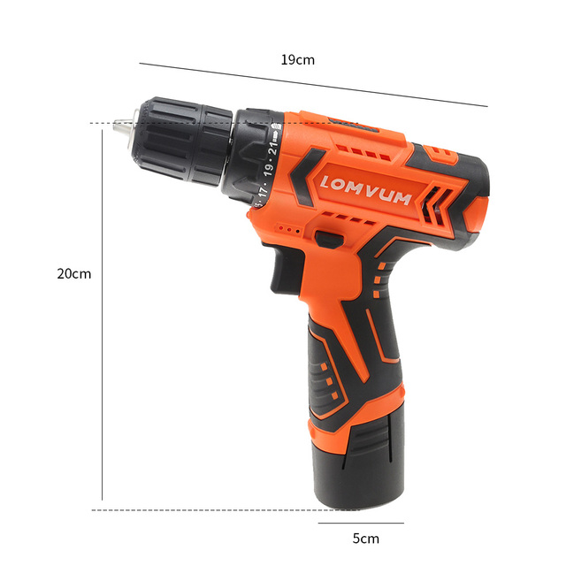 LOMVUM 12V Electric Drill Screwdriver Power dremel Tool Rechargeable Cordless drills Lithium-Ion Battery Screw Rotary Tool  4