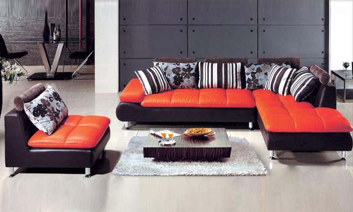 Aliexpress com   Buy Free Shipping 2013 new design home furniture Top Grain  Leather L Shaped Multi combination Sofa modern set L616 3 from Reliable sofa. Aliexpress com   Buy Free Shipping 2013 new design home furniture