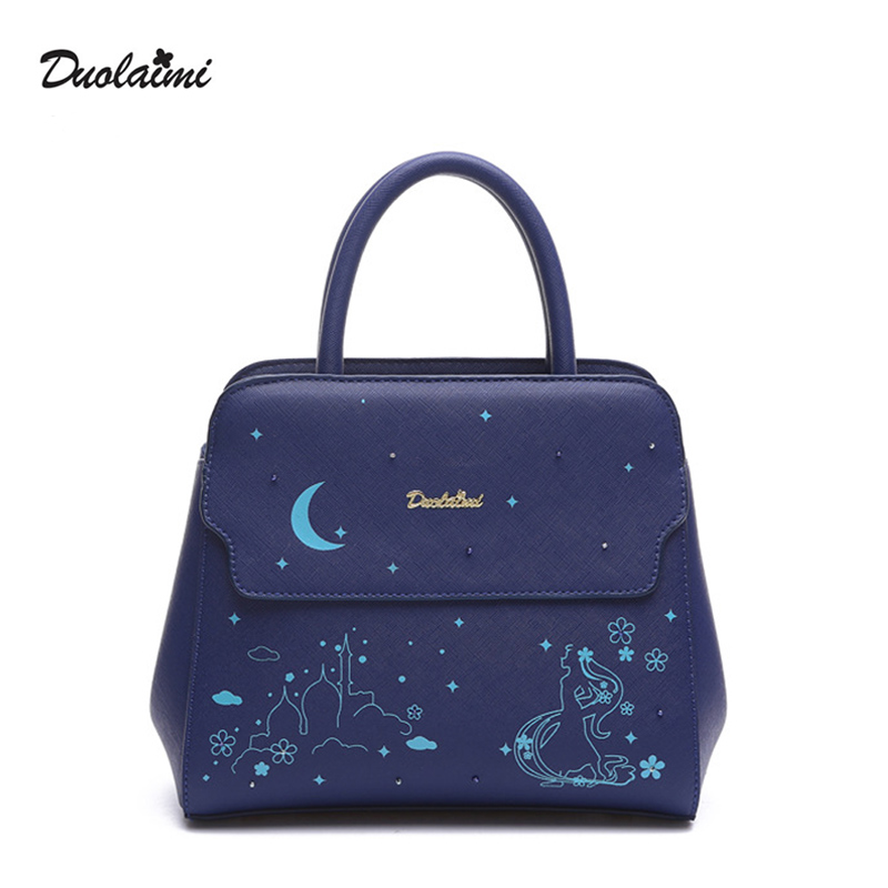 DouLaiMi Hot Sale 2017 New Fashion Big Bag Women Shoulder Messenger Bag Ladies H