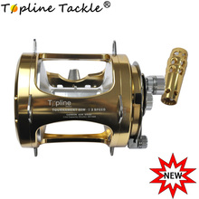 80 Trolling Reel Jig Fishing Heavy Duty Sea Ocean Big Offshore Trout Bass Aluminum CNC Machined Max Drag Power