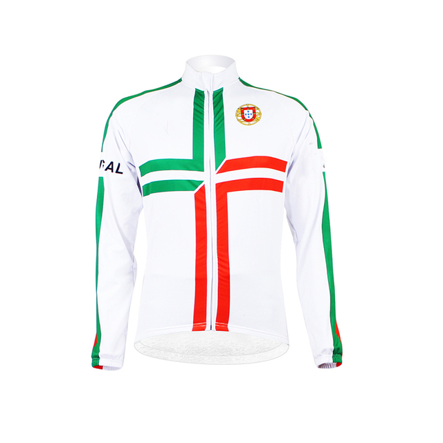0dc78d648 Team Portugal Winter Cycling Jersey Long Sleeve Racing Bike Clothes Thermal  Fleece Ropa Ciclismo MTB Bicycle Clothing