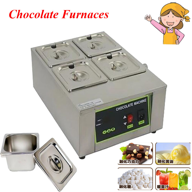 4 Cylinder Chocolate Soaps Melting Furnace Pot Thermostatic Kerotherapy Machine DIY Electric Chocolate Fountain D2002-4 molten tin furnace welding melting furnace machine welder zb1510b dissolve tin dip solder stove for pcb soldering pot