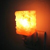 New LED Night Light EU US Plug Himalayan Salt Lamp Air Purifier Crystal Salt Rock Night