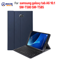 Walkers Bluetooth Keyboard Case for Samsung Galaxy Tab A 10.1 T580 T585 Tablet Removable Cover for SM T580 SM T585