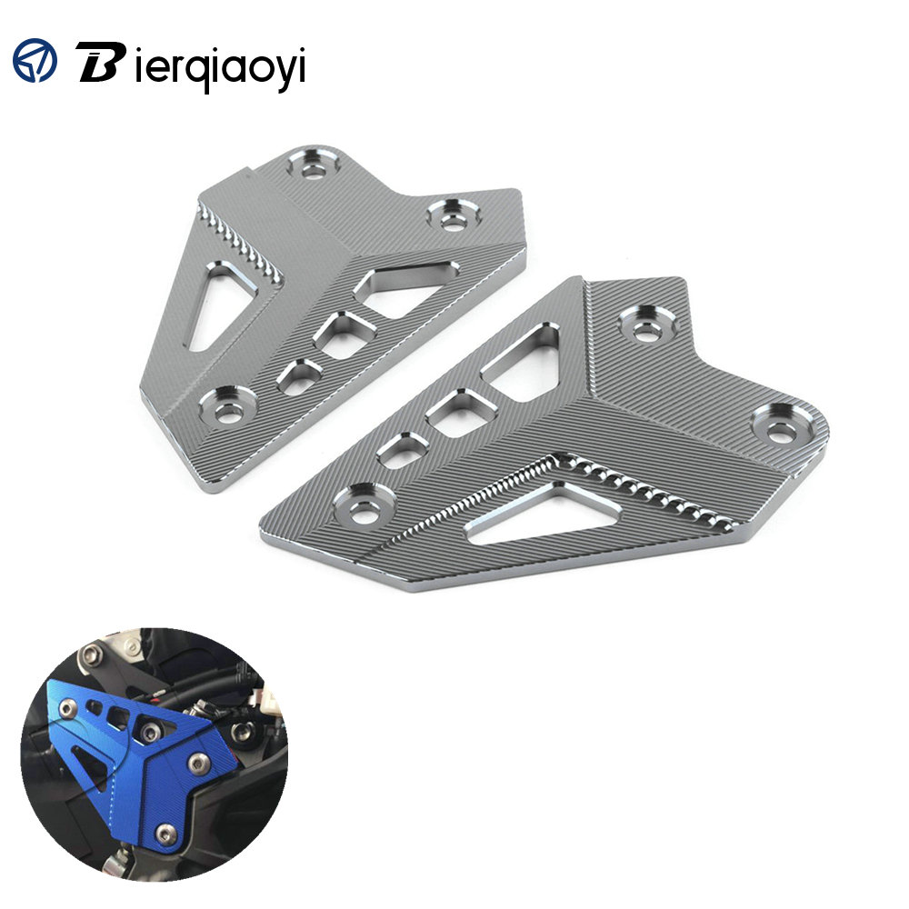 Image 1 - Z900 Motorcycle Accessories For Kawasaki Z900 2017 Z 900 Parts CNC Footrest Pedal Cover foot pegs Heel Plates Guard Protector-in Covers & Ornamental Mouldings from Automobiles & Motorcycles