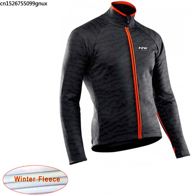NW 2019 Winter Thermal Fleece Men Bicycle Long Sleeve Cycling Jersey Pro Team Outdoor Mountain Clothing Ropa Ciclismo Hombre C29(China)