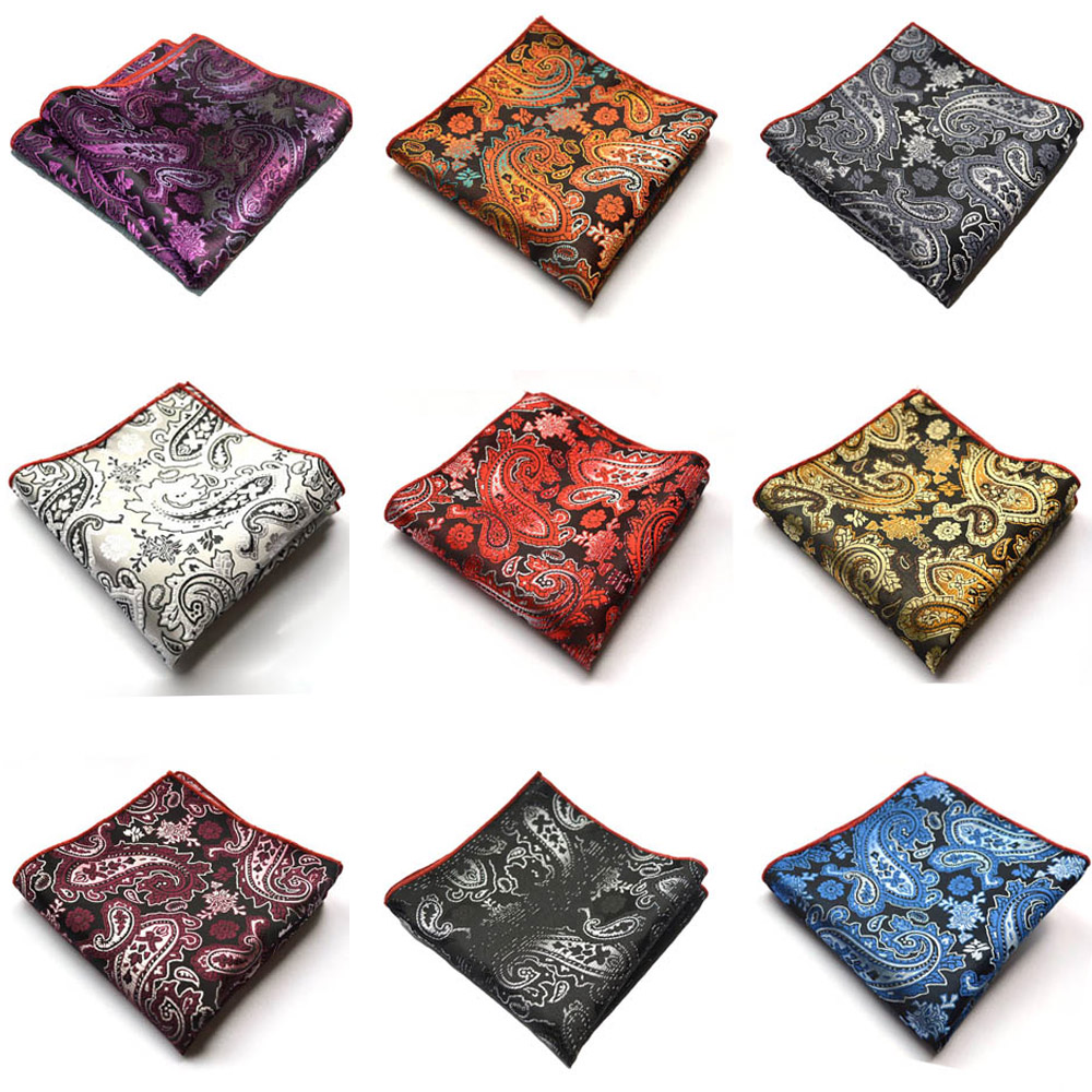 Men Vintage Paisley Flower Handkerchief Pocket Square Wedding Party Hanky NEW BWTYX0507
