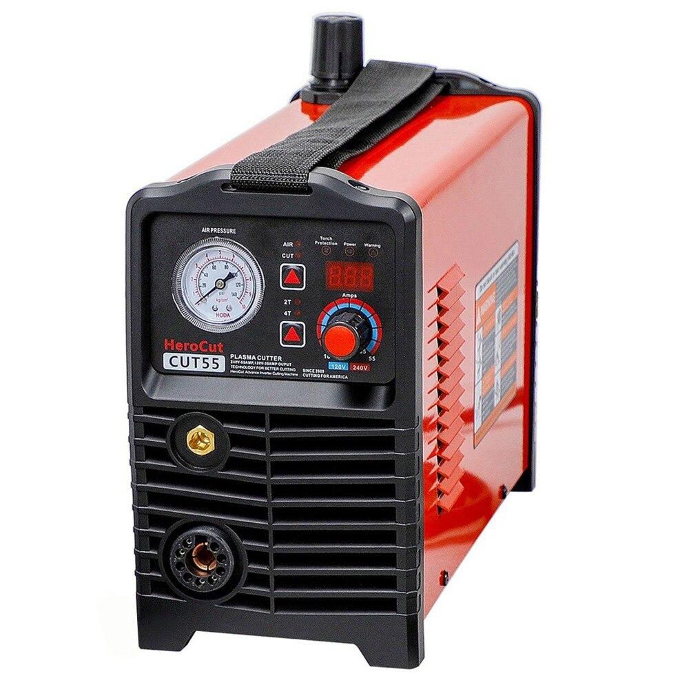 CNC Cortador de Plasma Piloto Arc IGBT CNC Digitais Não-HF Cut55 Dupla Voltagem 120 V/240 V, trabalho da máquina de corte CNC com mesa