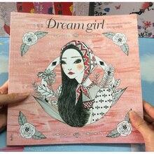 96 페이지 한국 꿈 소녀 색칠하기 책 성인을위한 색칠하기 책 낙서 회화 libro colourear adultos 예술 색칠하기 책