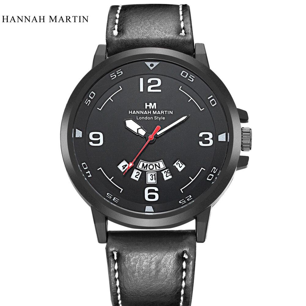 Marca de lujo Hannah Martin Hombres Relojes Deportivos Hombres Cuarzo - Relojes para hombres - foto 1