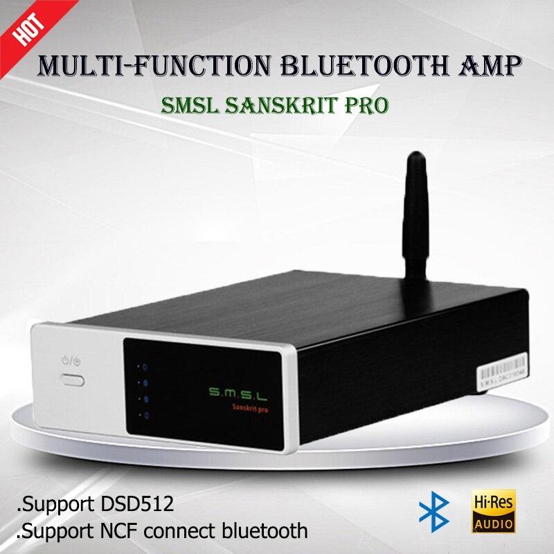 High Quality SMSL Sanskrit PRO-B Audio Decoder 32Bit/384Khz Decoding Amplifier DSD USB DAC Bluetooth 4.0 Version Asynchronous new smsl sanskrit pro b hifi digital audio bluetooth 4 0 decoder 32bit 384khz dsd usb coaxial optial dac cm6632a ak4490eq