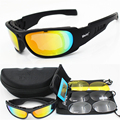 Поляризованные тактические очки Daisy C6  военные очки  армейские солнцезащитные очки с 4 линзами  мужские очки для стрельбы  мотоциклетные очк...
