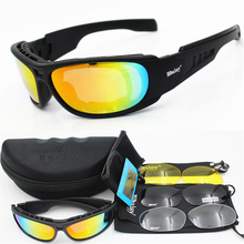 Daisy Polarized Tactical glasses C6 Military Goggles Army Sunglasses With 4 Lens Men Shooting Eyewear Gafas Motorcycle Eyewear