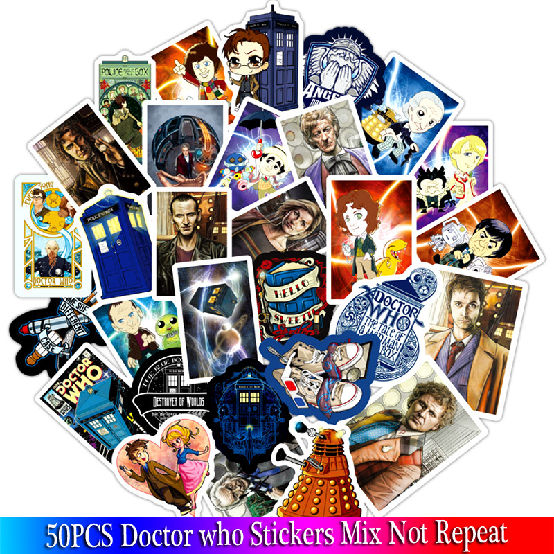 2019 New Doctor Who Tardis Stickers  Sets Anime Sticker Lot For Laptop Bicycle Phone Guitar Marvel Cartoon Stickers Pack