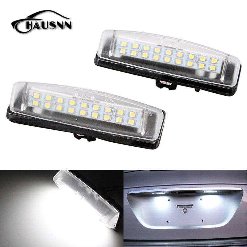 2 unids/set hausnn LED Marcos de matrícula luz reemplazo para ...