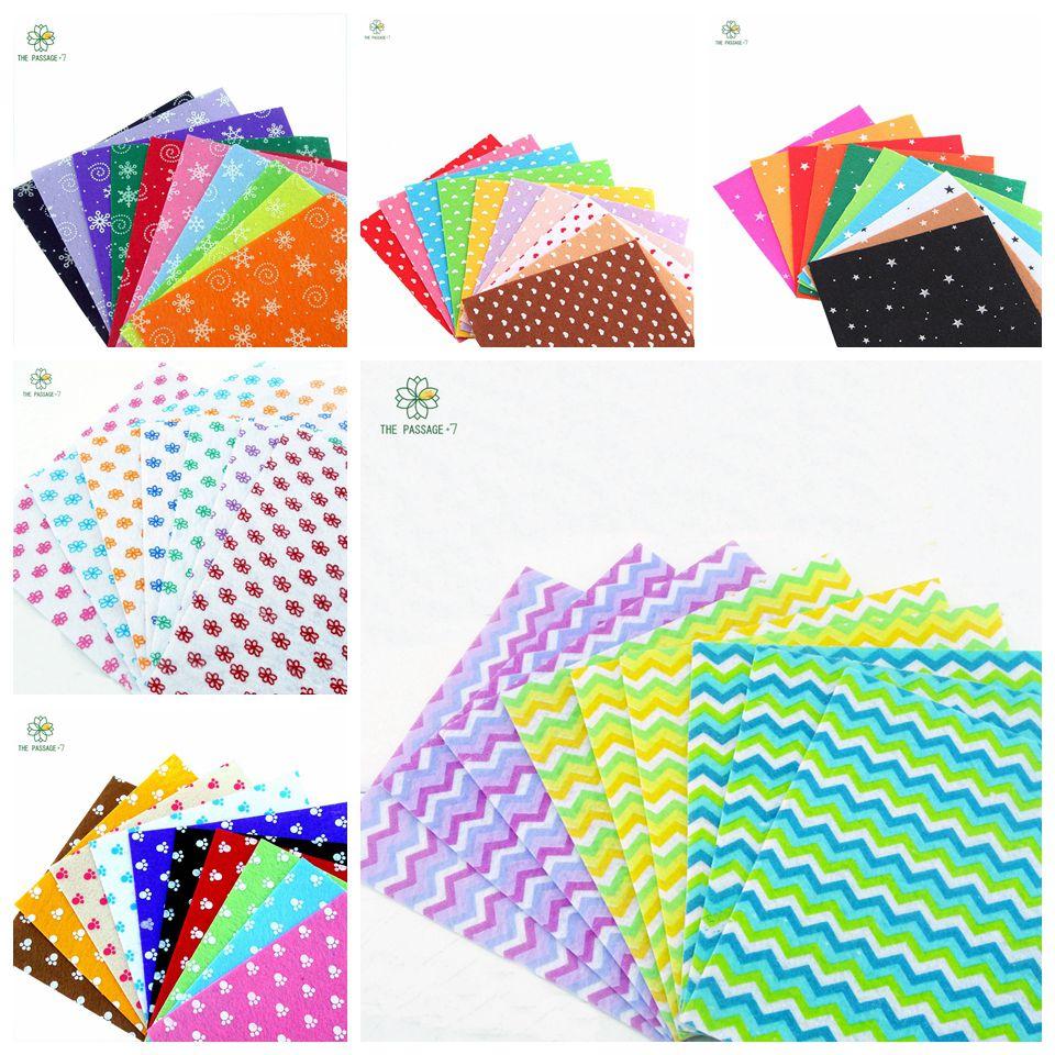 ⊹Artesanía sentía fieltro Telas impresión 56 diseños 6 pack ...