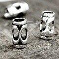 50Pcs Antique Silver Tibetan Silver Tone 13x8x8mm Cylinder Fashion Beads Zinc Alloy Fit Bracelet Necklace TS0557