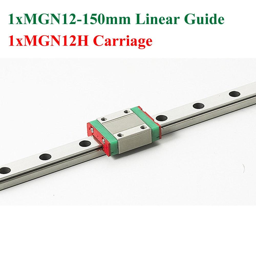 MR12 12mm Mini MGN12 Linear Guide Rail Length 150mm With MGN12H Linear Block Carriage hustler колготки с рисунком в виде треугольников