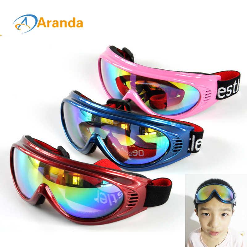 Детские лыжные очки, лыжные очки для снега, солнцезащитные очки 6 цветов, ветрозащитные очки, очки для лыж, ветрозащитные очки для улицы