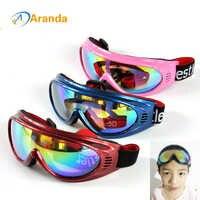 Kinder ski brille schnee ski brille 6 farben sonnenbrille winddicht goggle lunette de ski brille outdoor winddicht