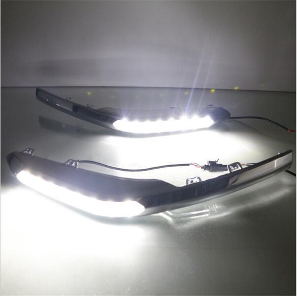 ФОТО Hireno Super-bright LED Daytime Running Light for Honda SPIRIOR 2015 LED Car DRL fog lamp 2PCS