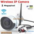 Nova 720 P 1.0MP Onvif P2P Câmera IP Sem Fio Wi-fi Câmera de Vigilância À Prova D' Água Ao Ar Livre Com 24 Pcs LEDs IR Night visão de Segurança