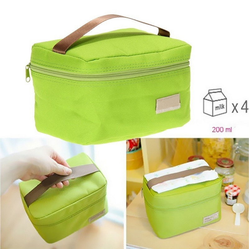 Portable Food Insulated Lunch Bags  Organizer Thermal Bento Lunch Box Bags Kids Picnic Outdoor Waterproof Lunch Food Bag