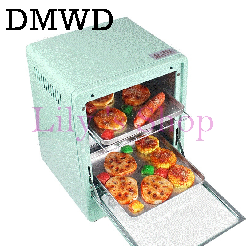 DMWD MINI toaster electric oven multifunction timer making biscuits bread cake pizza Cookies baking machine 12L liter 900W EU US new arrival double layer large electric oven po2pt commercial oven cake bread pizza oven large electric oven 220v 3000w 0 120min