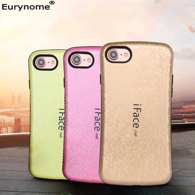 huge selection of e60e7 9557e Shockproof Iface mall double color Mosaic TPU with curve plastic anti skid  Cover case For iPhone 7 plus for Iphone 8 plus CASE on Aliexpress.com | ...