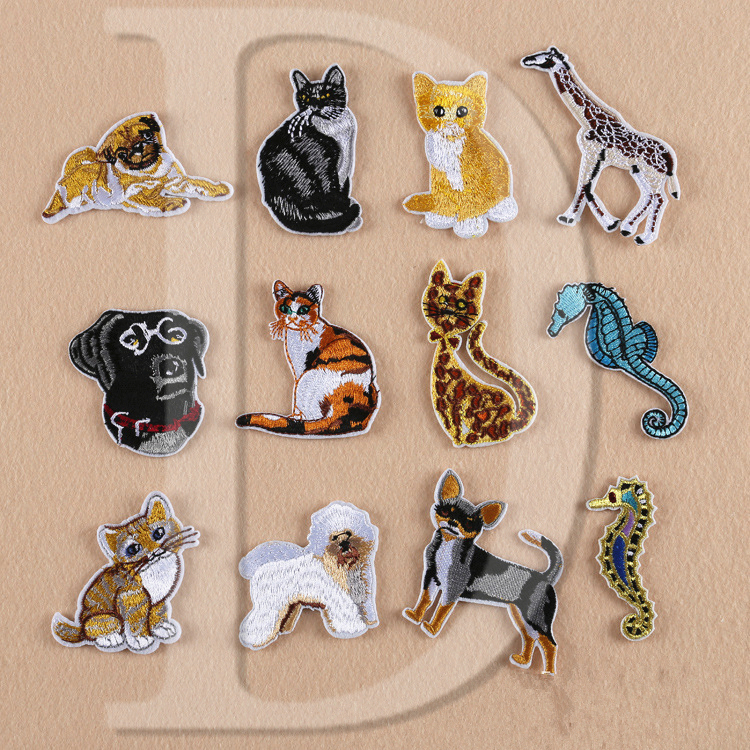 1 PCS Labrador parches Embroidered Iron on Patches for ...