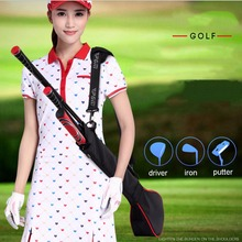 CRESTGOLF Nylon Golf Gun Bags For Men and Women Outdoor Practice Bag Equipments Clubs Accessories