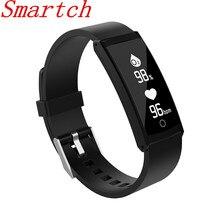 Smartch 2017 умный Браслет Presión arterial крови кислородом сердечной Monitores Фитнес трекер спортивные часы браслет для Android IO