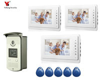 Yobang Security 7 Multi Apartment Door Intercom Large Screen Handfree Video Doorbell Villa Video Doophone Home