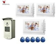 Yobang Security 7″ multi-apartment door intercom large screen handfree video doorbell villa video doophone home video intercom