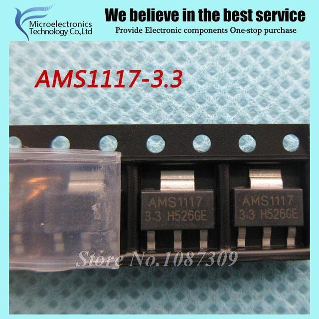 50pcs free shipping AMS1117-3.3 AMS1117 3.3V 1A SOT-223 Voltage Regulato new original