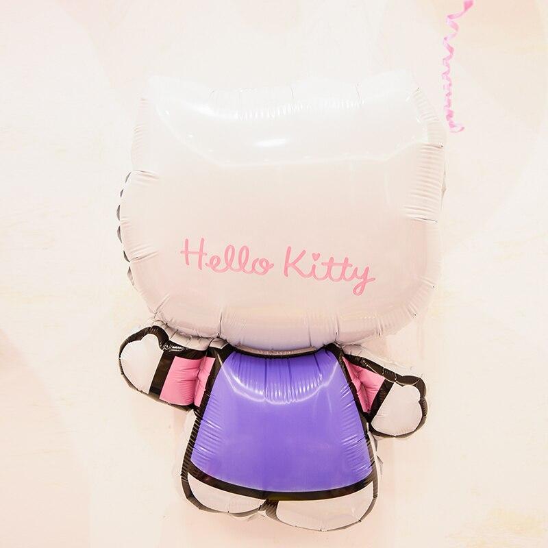 2pcs/lot 48*70cm Hello Kitty Cat KT Cat cartoon foil balloon happy birthday party Decoration Inflatable Kids Toys air Balloons