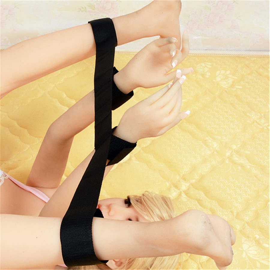 Soft Sex Flirt Toy Sexy Handcuff Wrist & Ankle Cuffs Kit Intimate Contact Adjustable Sexual Assistance Adult Games For Couples