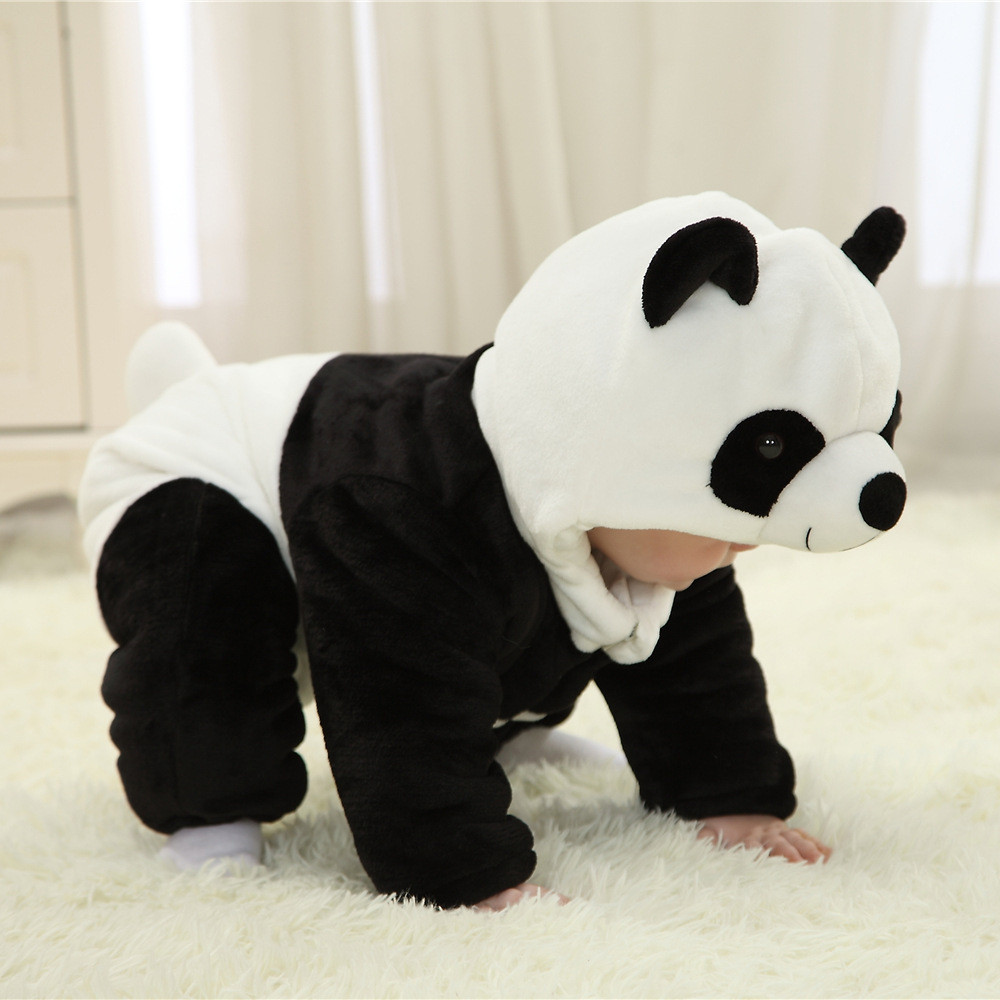 ad998a8ed45 Infant Unisex baby Winter Flannel Romper Panda Onesie Outfits Suit Dinosaur  Pajamas for Christmas-in Men's Costumes from Novelty & Special Use on ...