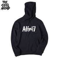 THE COOLMIND Hight Quality Cotton Blend Casual Unique AK 47 Printed Men Hoodies Long Sleeve Autumn