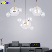 Minimalist Dinning Room Living Room LED Glass Balls Pendant Light Designers Creative Round Bubble Pendant Lamp