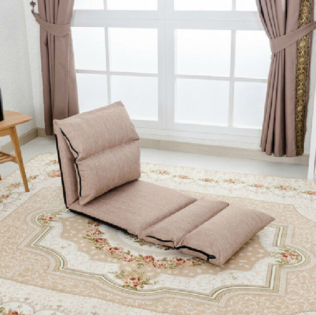 Floor Sofa Lengthened Chair Folding Adjustable Floor Chair Sleeper Chair Bed  Living Room Furniture Lazy Single Part 66