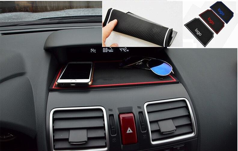 Não-slip Mat Painel Do Carro Ornamento Titular Do Telefone Silicone Anti-Slip Almofada Pegajosa Para Subaru Forester 2013 2014 2015 2016 2017 2018